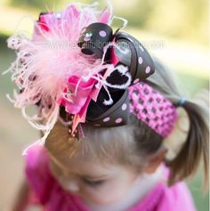 Make a statement tastefully with this sweet and stylish super cute hair bow. Ribbons in candy pink, chocolate brown and polka dots gather together with soft as fairy floss ... #handmade #etsy #babyheadbands #boutique #hairbows #overthetop #thanksgiving #babygift #babygirl #babybows #baby-headbands #fall-hair-bows #hair-bows #holiday-collection #over-the-top-hair-bows ➡️…