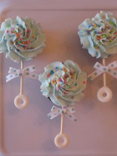 Cupcakes made for a new baby!  Thanks to CC member... #babyshowercakes