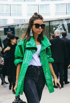Natasha Goldenberg spotted on the street at Paris Fashion Week. Photographed by Phil Oh.