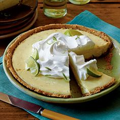 """Key """"Light"""" Pie  ~ If you love Key Lime Pie, try this recipe. Why it's better for you: You'll hear angels sing (Jimmy Buffet tunes) when you taste how rich this version is without all the fat!"""