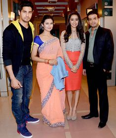 Siddharth Malhotra, Divyanka Tripathi, Shraddha Kapoor and Karan Patel on 'Yeh Hain Mohabbatein'. #Style #Bollywood #Fashion #Beauty