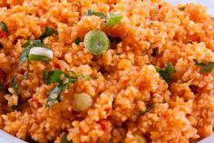 This 'BULGUR SALAD' is made without cooking and is full of healthy raw veg! You will need fine bulgur for this, while to cook bulgur as a side dish similar to rice (see other recipe), you will need 'coarse bulgur'. Bulgur is definitely sold in your local Turkish grocery. Bulgur is cracked wheat and contains a long list of minerals and vitamins.