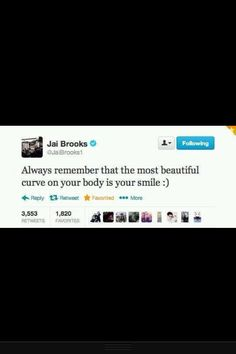How cute :') #janoskians #myheros  The best curve on your body is your smile