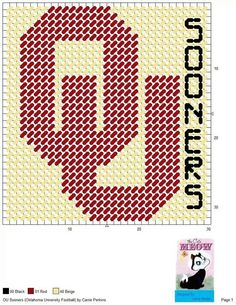 OU SOONERS (OKLAHOMA UNIVERSITY FOOTBALL) by CARRIE PERKINS -- WALL HANGING