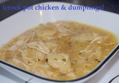 Crock Pot Chicken & Dumplings -- the classic southern comfort food that is simplified by the crock pot {jonandsuze.com}