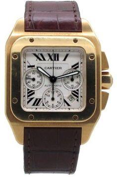 Cartier 18K Santos 100 XL Chronograph W20096Y1 Men