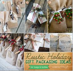 Homemade Christmas Packaging Ideas with a Rustic Flair!