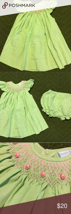 Smocked dress Smocked dress in great condition! Bloomers included Remember Nguyen Dresses Formal