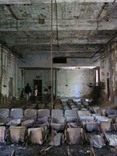 Abandoned theater on North Brother Island..