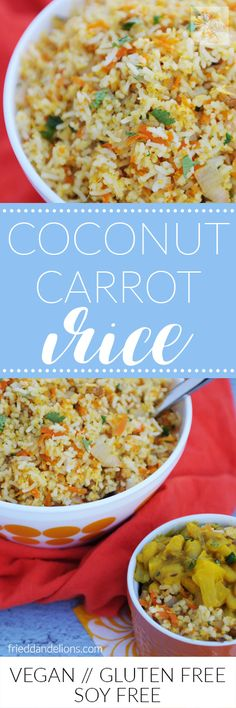 My Coconut Carrot Rice is comfort food in a bowl!  It's the perfect…