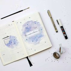 """362 Likes, 31 Comments - Manon (@dutch_dots) on Instagram: """"Coverpage for November. I used watercolor, but kind of regretted the decision. The pages got all…"""""""