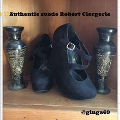 Robert Clergerie suede Doors wedge.❤️ Robert Clergerie black suede Doors wedge, Authentic worn  once in flawless condition✨ Robert clergerie Shoes Wedges