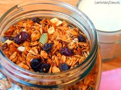 Golden, sweet, and crunchy granola that's simply bursting with protein and plenty of dried fruit to round out the flavors. I love granola. Granola makes me happy. Like really, really happy. Happier than Gallagher at at farmer's market. Happier than a camel on Hump Day. Happier than the Pillsbury Doughboy going to a baking convention.  Happy, happy,...Read More »