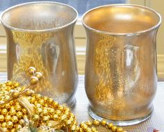 Salvage Savvy: How to make [even better] Mercury Glass --- gold sheened mercury glass!!! YES