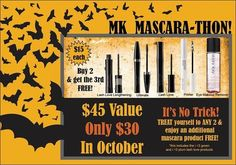 Mascara-thon! No tricks, just treats for your lashes! Contact me, your Mary Kay Independent Beauty Consultant. www.marykay.com/elissaa