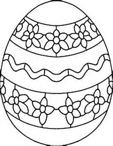Easter Egg Coloring Template - Bing Images