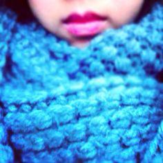 Knit scarf.
