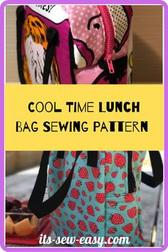 Make lunch a time to look forward to for your kids with this unique lunch bag. The bag offers multiple compartments to keep your child's lunch fresher for longer. With this intermediate level pattern, you can make this cool bag that comes in two style options making it easier to find something that you and your child will love. #lunchbagpatterns#sewingpatterns#lunchbagsewingpatterns#bagsewingpatterns#lunchbag#kidssewingpatterns#easylunchbagpatterns Bag Patterns To Sew, Sewing Patterns, Insulated Lunch Bags, Pattern Making, Fun Projects, Your Child, Children, Kids, Cool Stuff