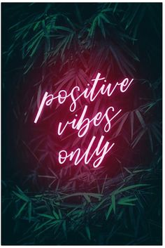 Visionary Prints Positive Vibes Only (Print) Neon Wallpaper, Tumblr Wallpaper, Aesthetic Iphone Wallpaper, Wallpaper Quotes, Aesthetic Wallpapers, Good Vibes Wallpaper, Positive Vibes Only, Positive Quotes, Positive Attitude