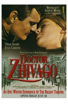 """Dr. Zhivago""-  (Julie Christy, Omar Shariff)  Winner of 5 Academy Awards"