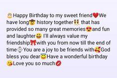Happy Birthday Best Friend Quotes, Happy Birthday Quotes For Friends, Happy Birthday Wishes Cards, Birthday Quotes For Best Friend, Birthday Cards, Wish Quotes, Bff Quotes, Boyfriend Quotes, True Quotes