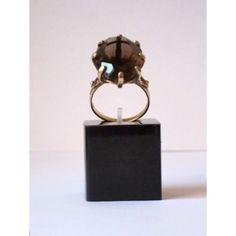 9ct Gold Smokey Quartz Ring - Friday Vintage.