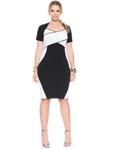 Miranda Colorblock Dress plus size UNIQUE WOMENS FASHION