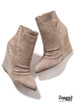 The Candyce Bootie is part of the Kristin Cavallari Collection for Chinese Laundry. These stylish and comfortable booties are perfect for fall fun! Crafted from rich suede upper with a cushioned leather footbed. Features a ruched detailing on vamp and a stacked wedge heel. Shop the complete collection at http://www.zappos.com/kristin-cavallari.