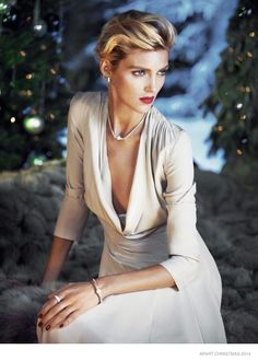 Anja Rubik Gets Romantic in Apart Christmas 2014 Ads with Her Husband