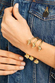 Jennifer Fisher   Double Knot gold-plated cuff   NET-A-PORTER.COM