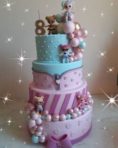 "Grey Algarin 💖 on Instagram: ""Torta LOL 💖 • • #decoracionescaracas #tortasvenezuela #tortasdeniñas #tortaslol #tortalol #reposteriaalgarin #caracas #venezuela"" Funny Birthday Cakes, Birthday Cake Girls, Lol Doll Cake, 7th Birthday Party Ideas, Birtday Cake, Surprise Cake, Girl Cakes, Party Cakes, Lol Dolls"