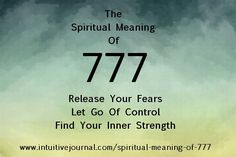 The meaning of repeating number 777 brings reassuring thoughts from your spirit guides that they are with you and you can now safely release your fears about whatever situation concerns you. Find out what 777 means in numerology. www.intuitivejour...