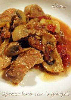 Cucinando e assaggiando...: Spezzatino con funghi champignon