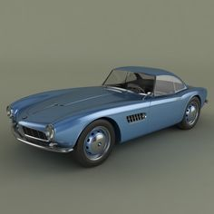 bmw 507 coupe 3ds - BMW 507 coupe... by desmonster Bmw Classic Cars, Classic Sports Cars, Weird Cars, Cool Cars, Crazy Cars, Bmw 507, Bmw Motors, Bmw Vintage, Bavarian Motor Works