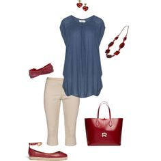 """""""Picnic on the 4th- plus size"""" by gchamama on Polyvore"""