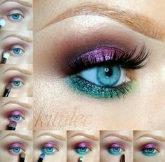 Eye makeup look using Sleek Vintage Romance and Garden of Eden by @kitulec
