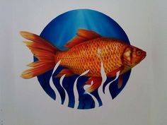 Airbrush, Fish, Pets, Illustration, Painting, Animals, Air Brush Machine, Animales, Animaux