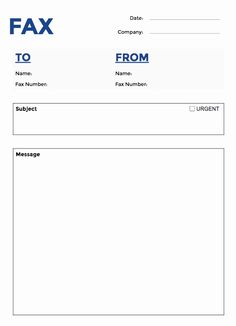Sample Personal Fax Cover Sheet Template In 2019 Cover