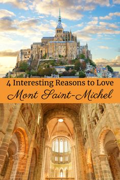 4 Interesting Reasons to Love Mont Saint-Michel| Mont Saint-Michel is one of the most popular places to visit in France and all of Europe. Save time in your France or Paris itinerary for a visit to Mont Saint-Michel! #travel #france #montsaintmichel Europe Travel Guide, Travel Guides, Travel Tips, Europe Destinations, Paris France Travel, Day Trip From Paris, Summer Travel, Summer Bucket, Blog Voyage