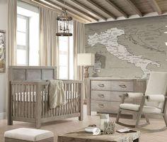 Natart Rustico 2 Piece Nursery Set-Crib and Double Dresser