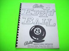 Bally EIGHT BALL 1977 Original Solid State Pinball Machine Service Repair Manual #BallyEightBall