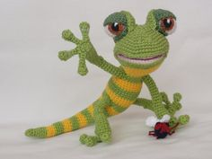 Giorgio Gecko  Amigurumi Häkeln Muster von IlDikko auf Etsy