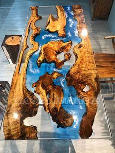 Diy Resin Table, Epoxy Wood Table, Epoxy Resin Table, Live Edge Furniture, Resin Furniture, Wood Table Design, House Plants Decor, Live Edge Table, Wood Slab