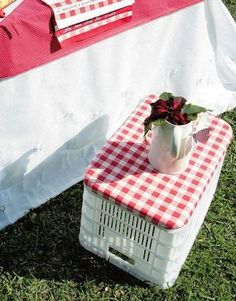 Tutorial: http:// msfultz.blogspot.com.br/ 2012/02/ upcycled-crate-seat-tutoria l.ht...