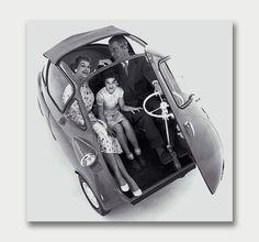 The Isetta – Mid-Century Microcar. / Aqua-Velvet