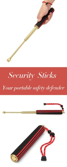 US$15.99 + Free shipping. Security Stick, Self Defense Stick, Safety Stick, Window Breaker, Safety Gadget, Emergency Tool. Sharp End, Hand String, Sponge Wrapping. Material: Alloy Steel, Color: Red, Blue, Length: 20-47cm. A Must for Thug life.