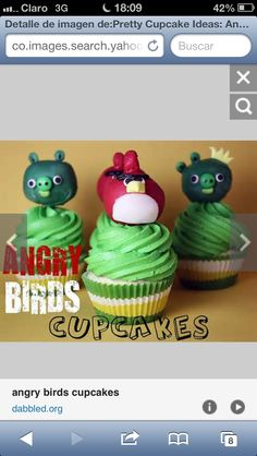 OMG delicius cupcakes Angry bords!!