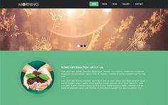 Morning – agriculture Theme. Bootstrap Themes. $8.00