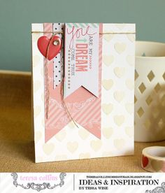 Teresa Collins Designs - Save the date - You Are My Dream Card by Tessa Wise @Tessa Wise