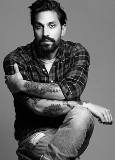 ben gorham from byredo. even sexier with his beard and long indian hair